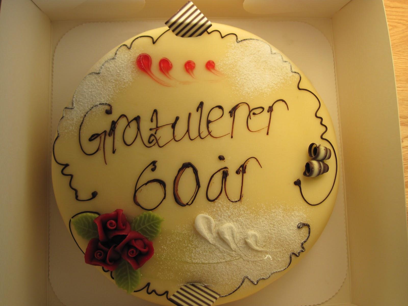 60 års dag Fruens vilje: Vi feirer 60 årsdag. 60 års dag