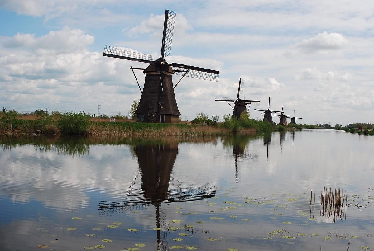 Moulins en chaume Kinderdijk