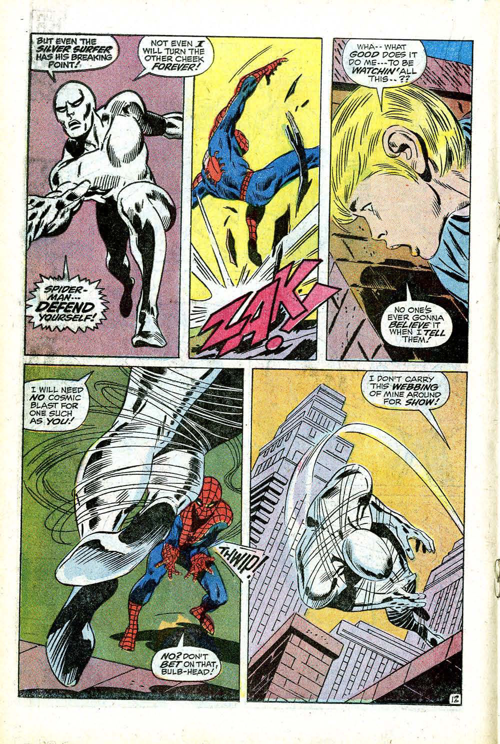 The Bronze Age Of Blogs Silver Surfer Vs Spider Man Hi Hansithe Codes Do Point To An Electrical Problem With Transfer John Buscema Hated Drawing Superheroes He Also Cityscapes And People In Modern Dress You Can Tell Cant