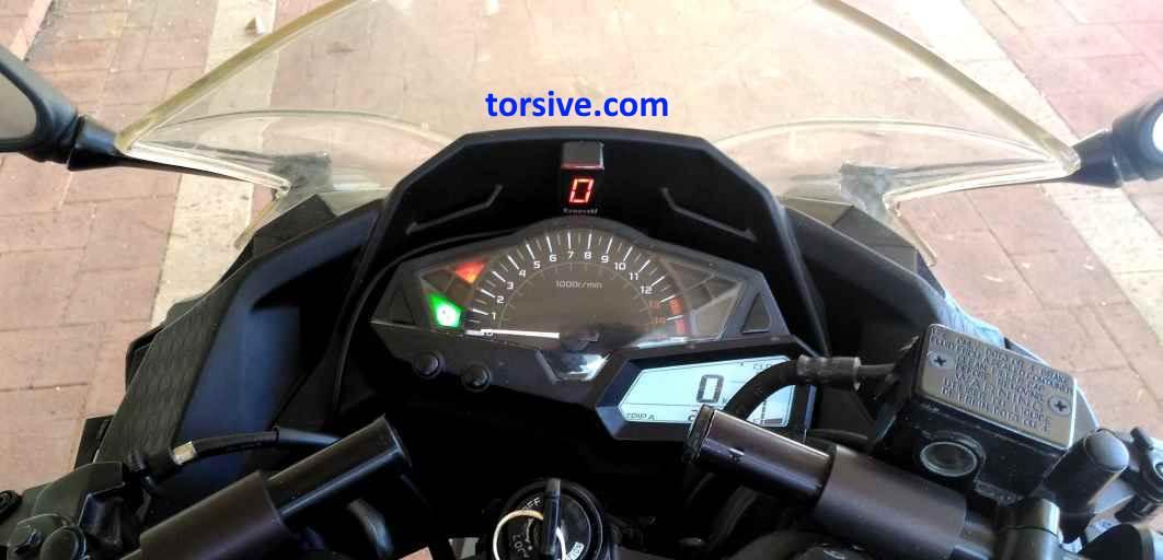 kawasaki ninja 300 gear indicator installation and review   torsive