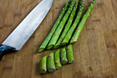 Barely-Cooked Asparagus with Lemon-Mustard Vinaigrette found on KalynsKitchen.com