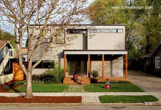 Casa contemporánea de dos plantas prefabricada en Mountain View, California