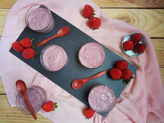 pudin saludable fresas y chía sin horno sencilla rápido rico saciante healthy