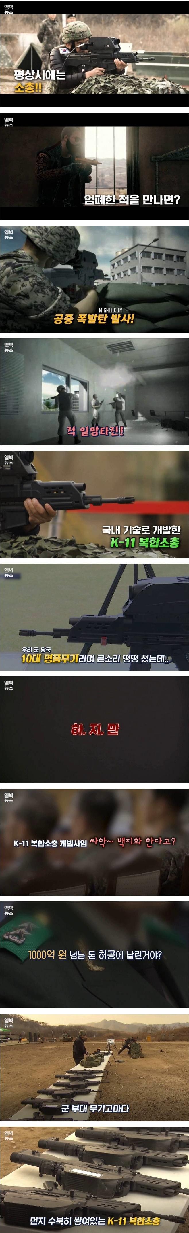 [유머] 1000억원 투입한 K-11 복합소총 사업 -  와이드섬