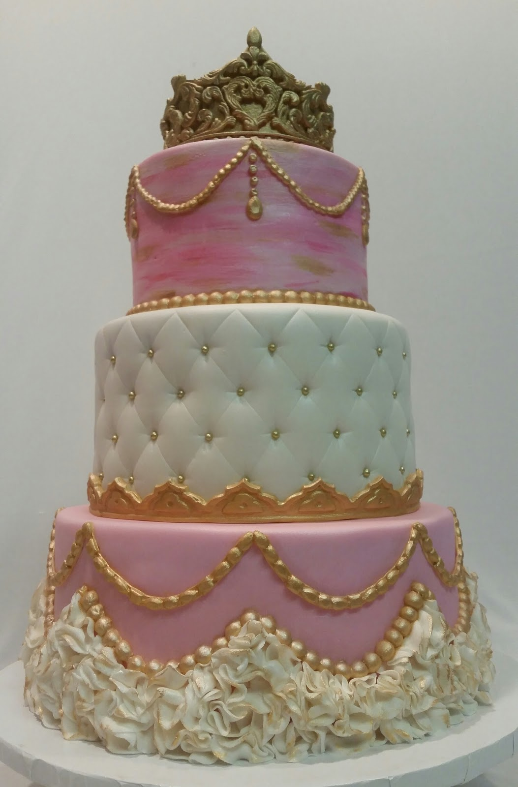 Baby Shaped Cake Images : MyMoniCakes: Pretty in pink baby shower cakes. Onesie cake ...