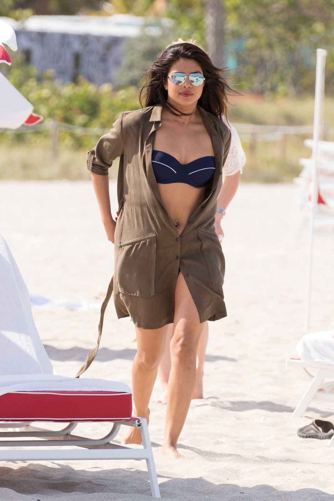 Adriana Lima and Priyanka Chopra in Bikini on the Beach in Miami