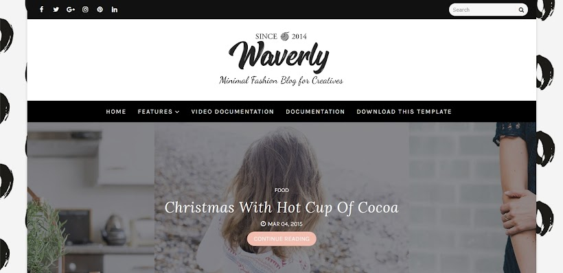 Waverly Free Blogger Template