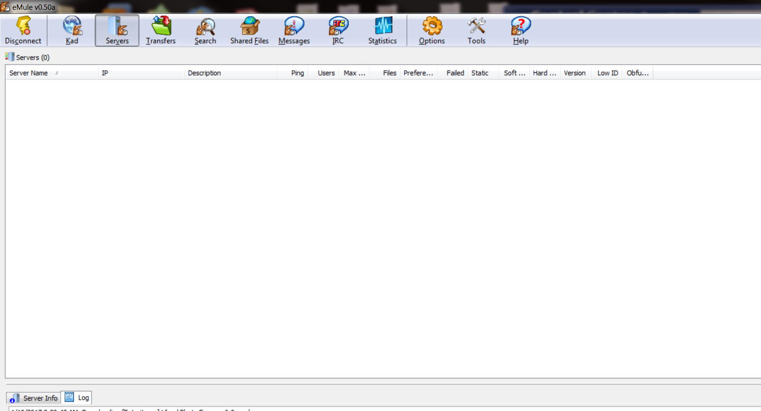 My Experience Count: eMule V0 50a eD2K