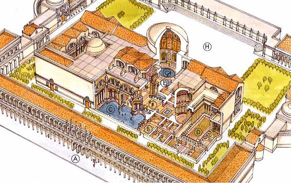 Reconstruccion de las termas de Caracalla en Roma