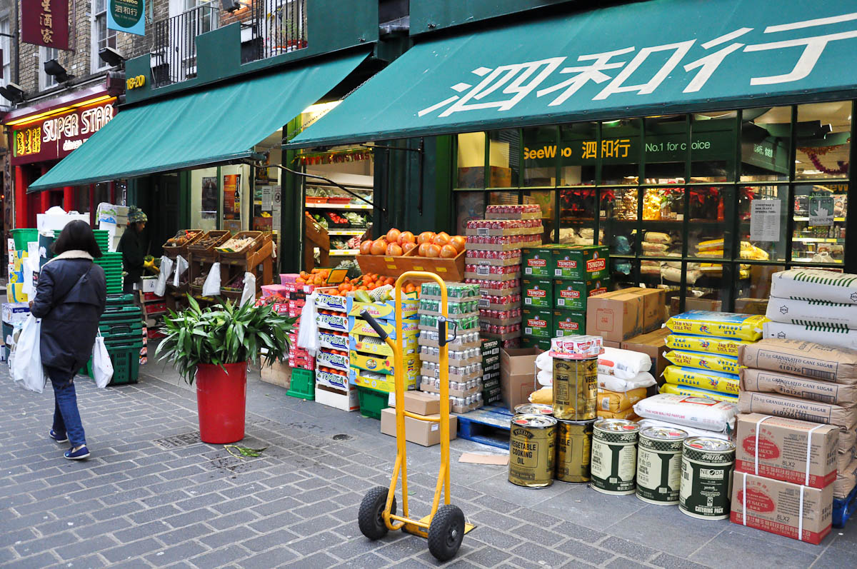 Chinese supermarket See-Woo, Chinatown, London, England
