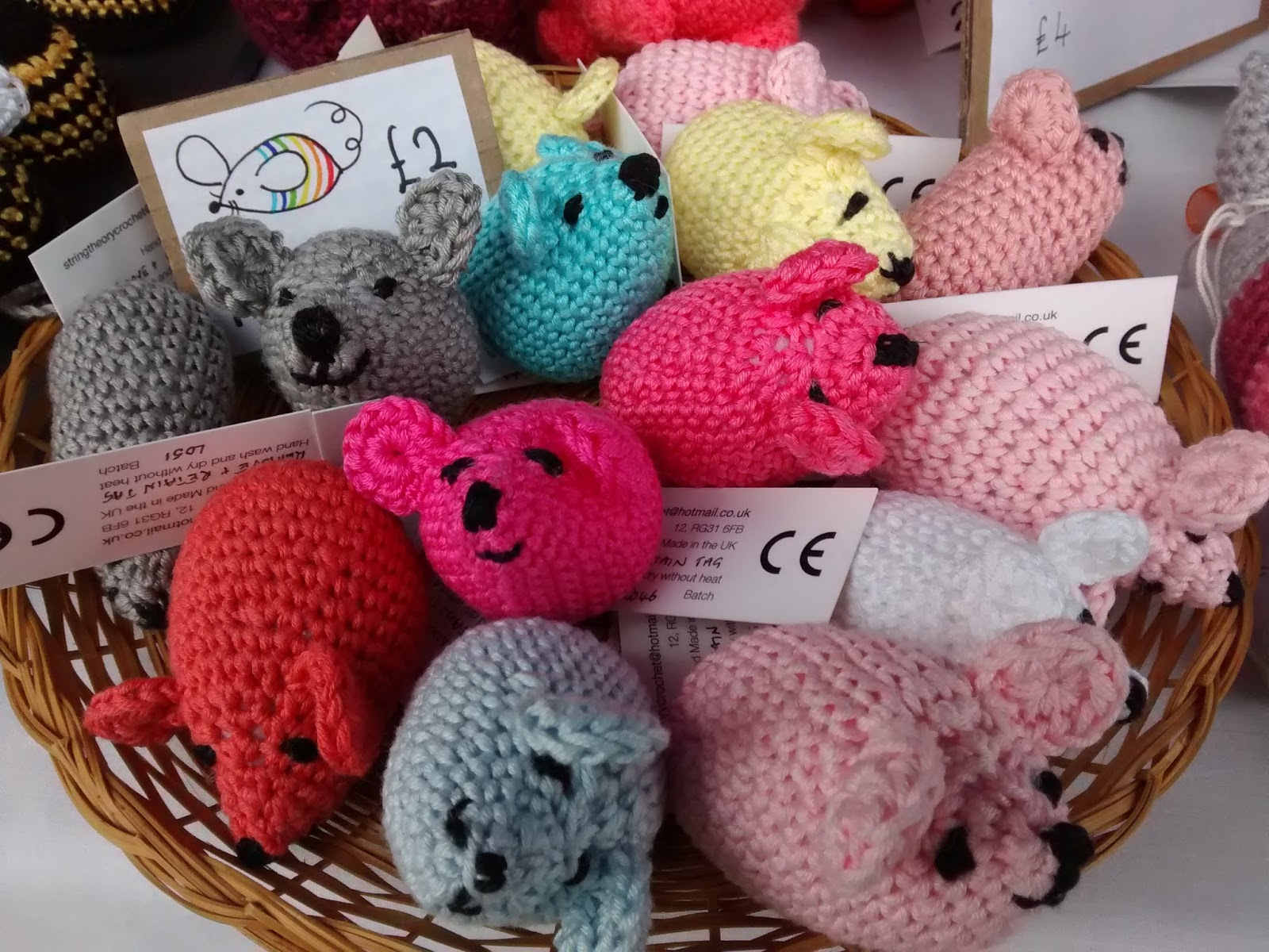 String theory crochet craft fair tip how we display prices for Crochet crafts that sell well