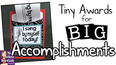 I Sang By Myself and other great awards for music class.  Tiny awards for BIG accomplishments can make an even bigger impact on your classroom.  Learn about these little gems, how to use them, store them and celebrate the little things in your music classroom!