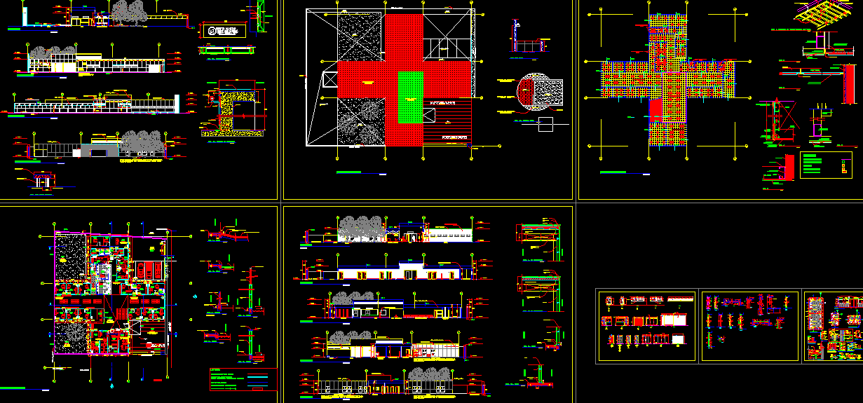 Hospital Project Design AutoCAD Dwg Drawings
