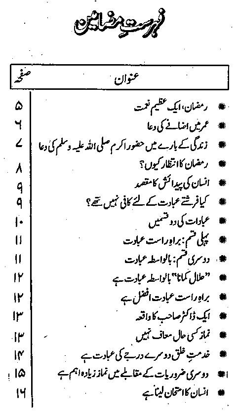 How Spend Ramadan Urdu