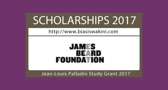 Jean-Louis Palladin Professional Work Study Grant 2017