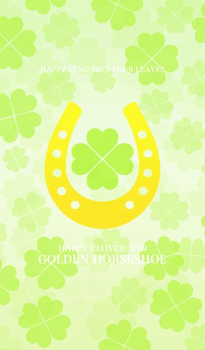 Happy clover and golden horseshoe