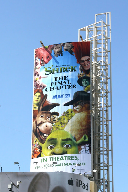 Shrek Final Chapter movie billboard
