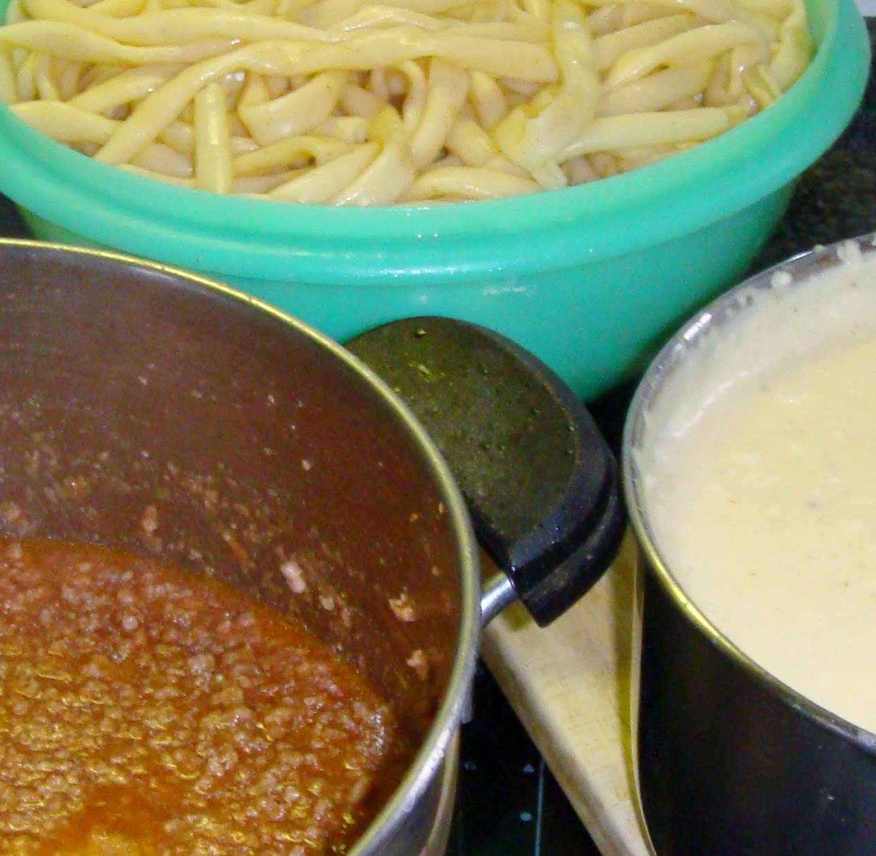 The three parts of pastitsio
