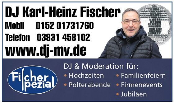 DJ auf Ruegen - Hochzeit DJ und Party DJ Fischer Spezial