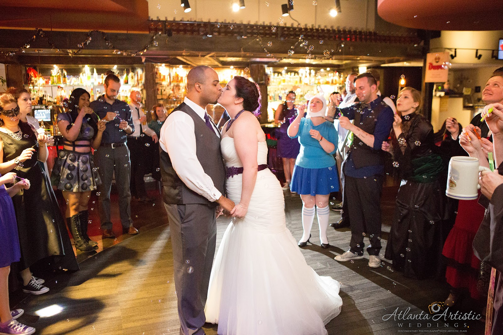 photo by the atlanta wedding photographers at atlantaartisticweddings - Halloween Themed Wedding Reception
