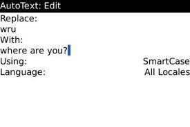 Menyimpan/ Membuat Simbol Autotext Blackberry Baru