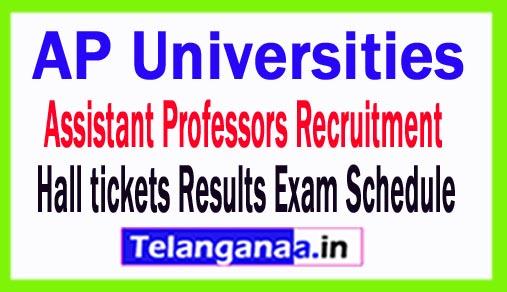 AP Universities Assistant Professors Recruitment