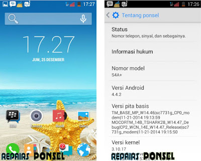 Cara Screenshot Advan S4A+