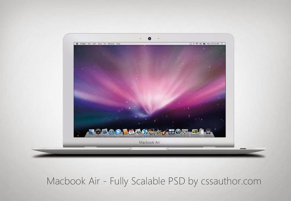 Macbook Air PSD Template