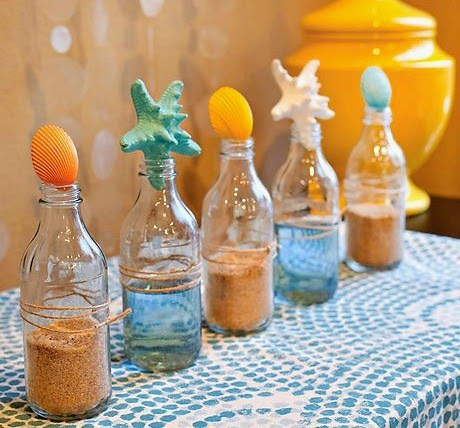 Beach Bottle Table Centerpiece