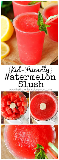 Kid-Friendly Watermelon Slush pin image