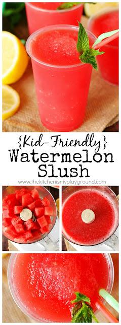 Kid-Friendly Watermelon Slush pin image