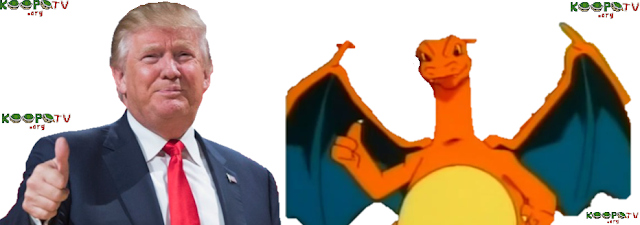 Donald Trump Charizard thumbs up approval anime