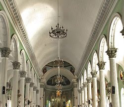 San Jose Church aisle