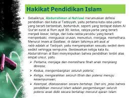Hakekat Dan Tujuan Pendidikan Islam