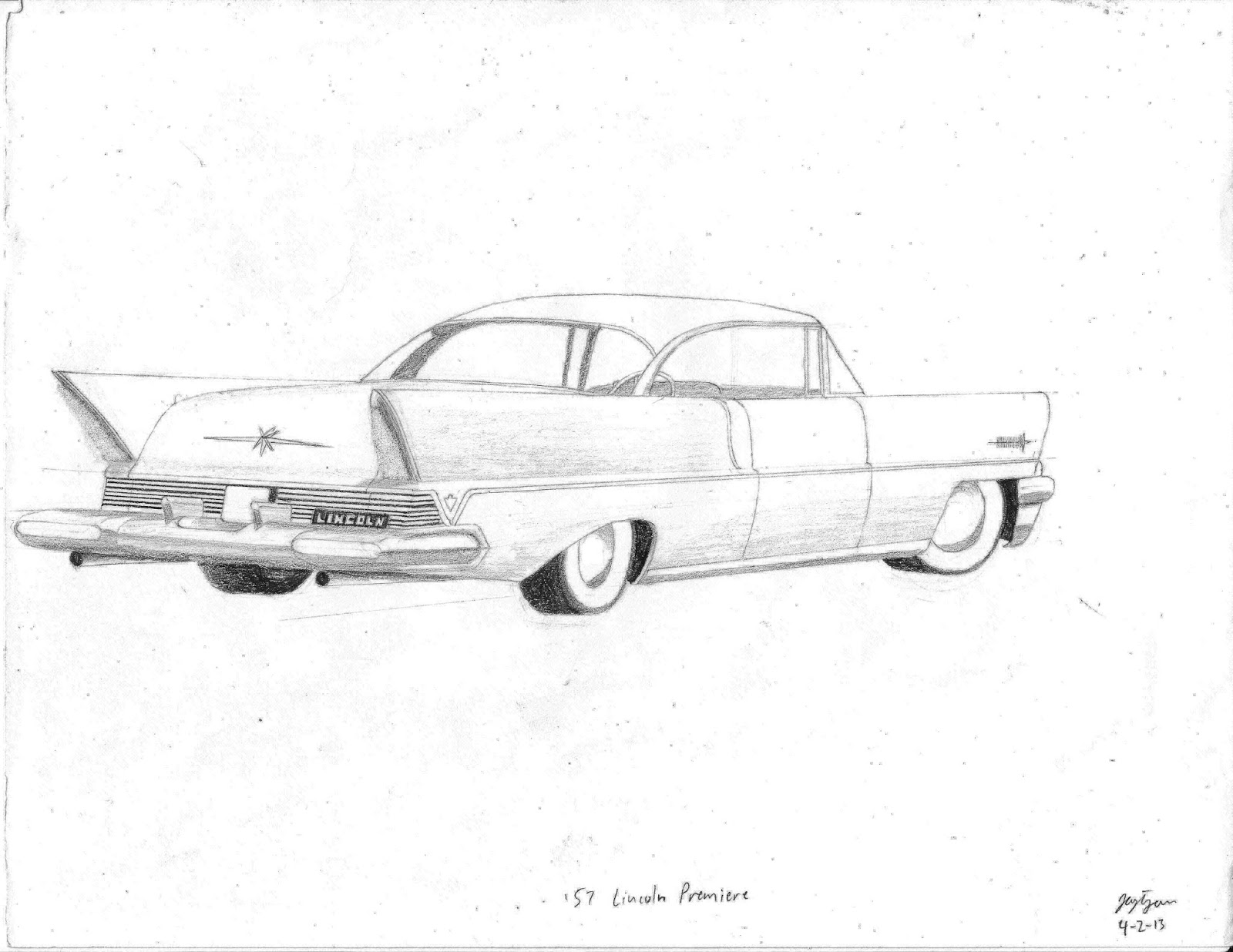 j turn more car art 1 2 3 etc 57 Ford Mustang to make way for the wheel changes i took out the hubcaps and created 57 lincoln premiere 2 on the left later to create the 4 door version