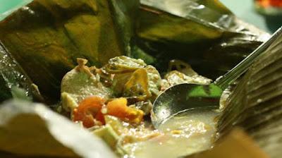 Resep Garang Asem Kuah Santan daun pisang