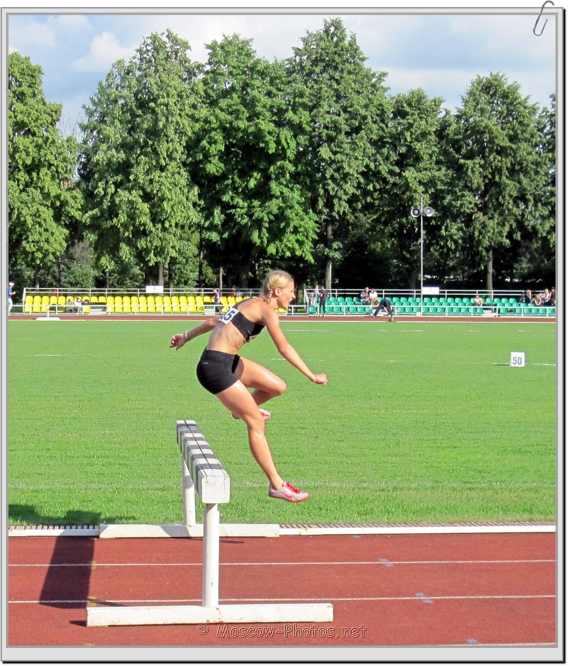 Stayers running hurdles at Moscow Athletics Open 2011