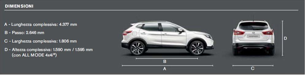 Nissan Qashqai: Dimensioni | Bagagliaio, misure, peso e ...
