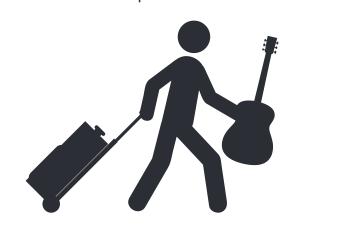 Bảo quản đàn guitar trước khi cho lên máy bay