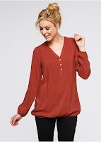 Bluză croită din viscoză de calitate