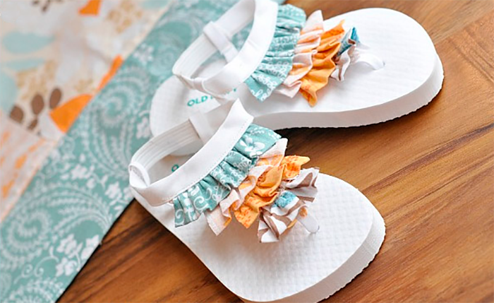 diy costura verano flip flops playa zandalias zapatos chanclas