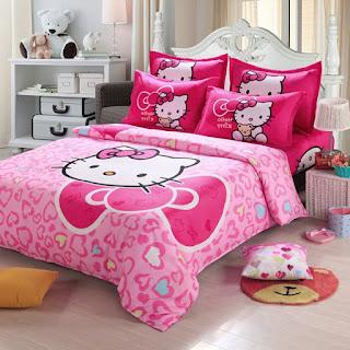 Gambar Sprei Motif Hello Kitty yang Lucu 5