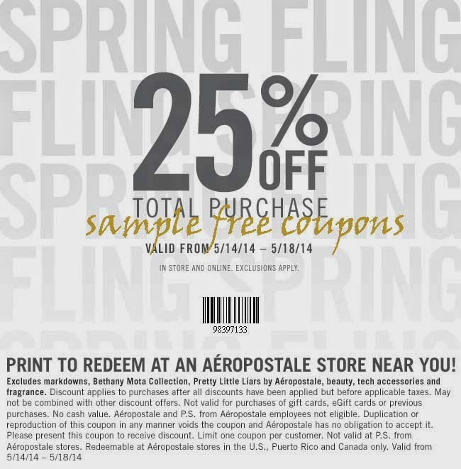 Sign Up For Aeropostale Coupons