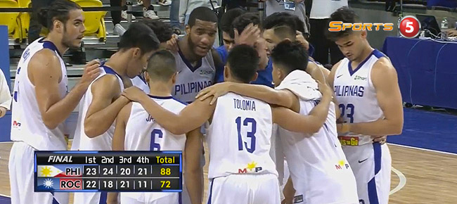 Gilas Pilipinas def. Chinese Taipei-A, 88-72 (REPLAY VIDEO) Jones Cup 2017
