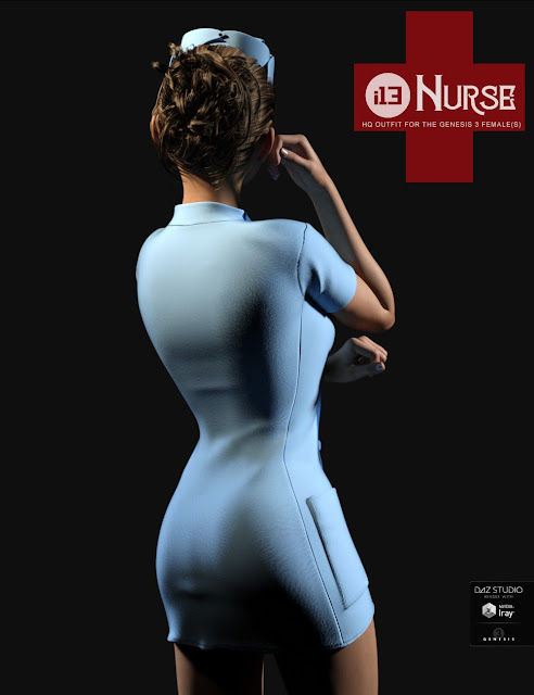 i13 Nurse Outfit for the Genesis 3 Female