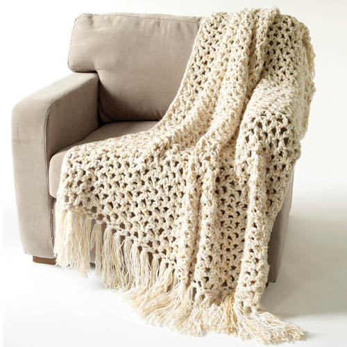 Vanna's Vanilla Throw - Free Pattern