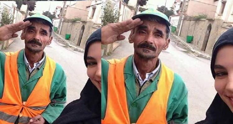القصة الحقيقية لسيلفي الفتاة مع والدها عامل النظافة و التي أشعلت السوشيال ميديا