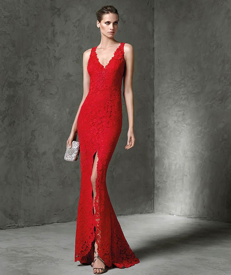 d013a228a38f2 Vestito rosso lungo con lo spacco – Abiti in pizzo