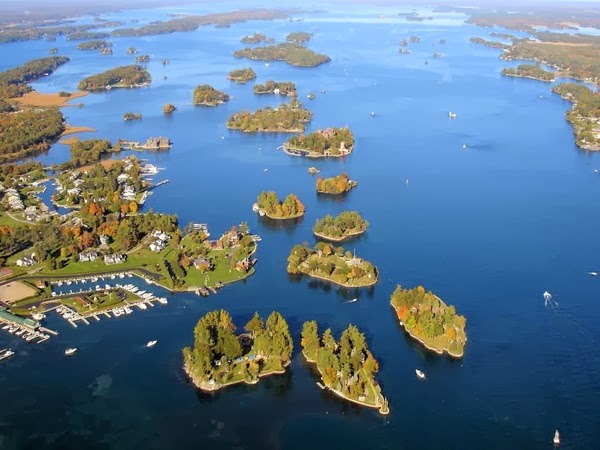 "To be part of the ""1,000 islands,"" each land mass had to meet certain criteria."