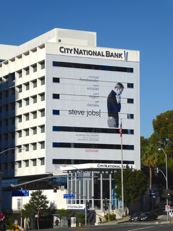 Giant Steve Jobs movie billboard